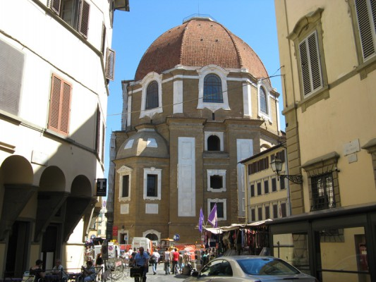 At the back of the church of San Lorenzo, you'll find the dome of the Chapel of the Princes