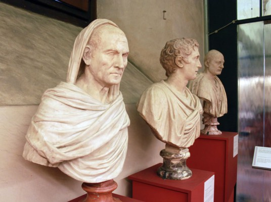 Roman and Greek busts and portraits