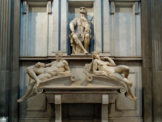 Tomb by Michelangelo in the New Sacristy