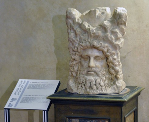Fragment of sculpture with head of Mitra