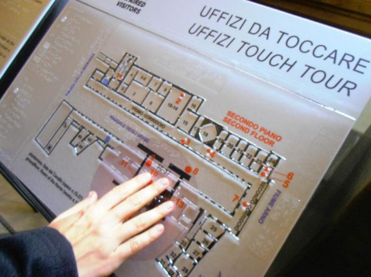 Map of the Uffizi by Touch Tour